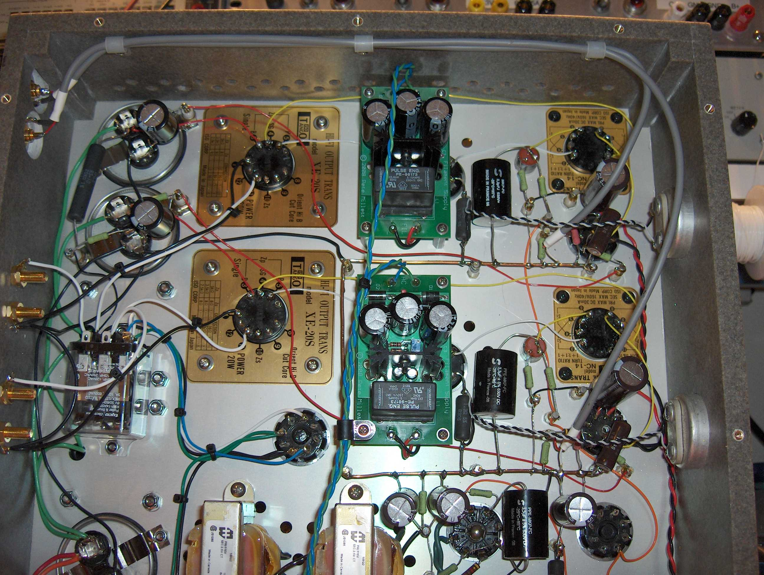 Regulated Dc Filament Supply Connects For Example A Simple Power Regulator From Mains You Can See Pair Of The Earlier Version Converters In This Picture Underside Unnecessarily Complex 300b Amp