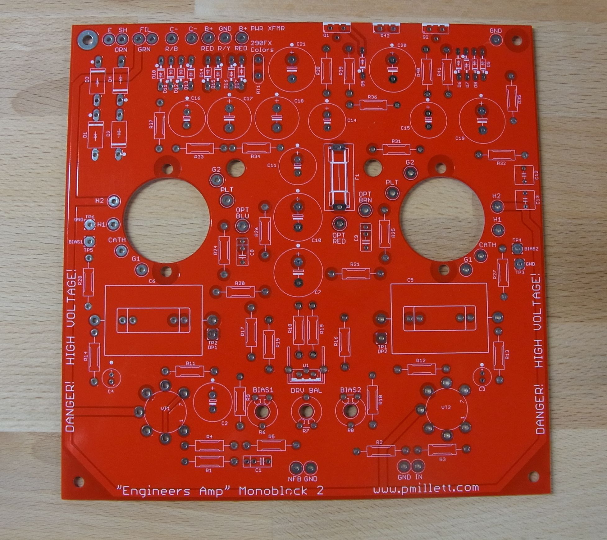 Engineers Amp 50w Monoblock 100w Mosfet Power Amplifier This Board Is Identical To The Original Except That Instead Of Having Compactron Sockets On Pcb There A Big Hole For Socket Be Mounted