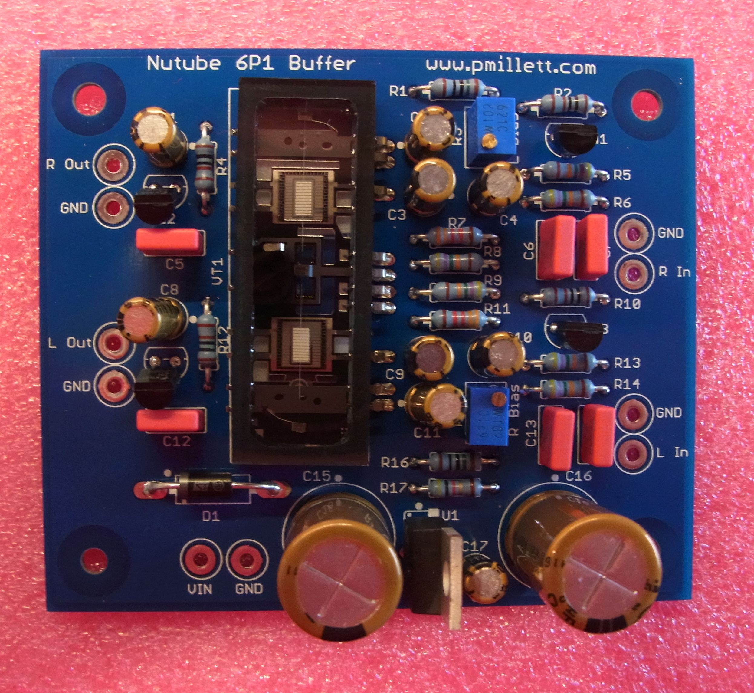 Nutube 6P1 Buffer PCB
