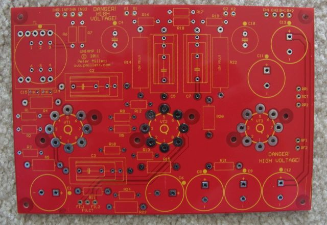 Uniampii Pcb on Push Pull Kt88 Tube Amplifier Schematic