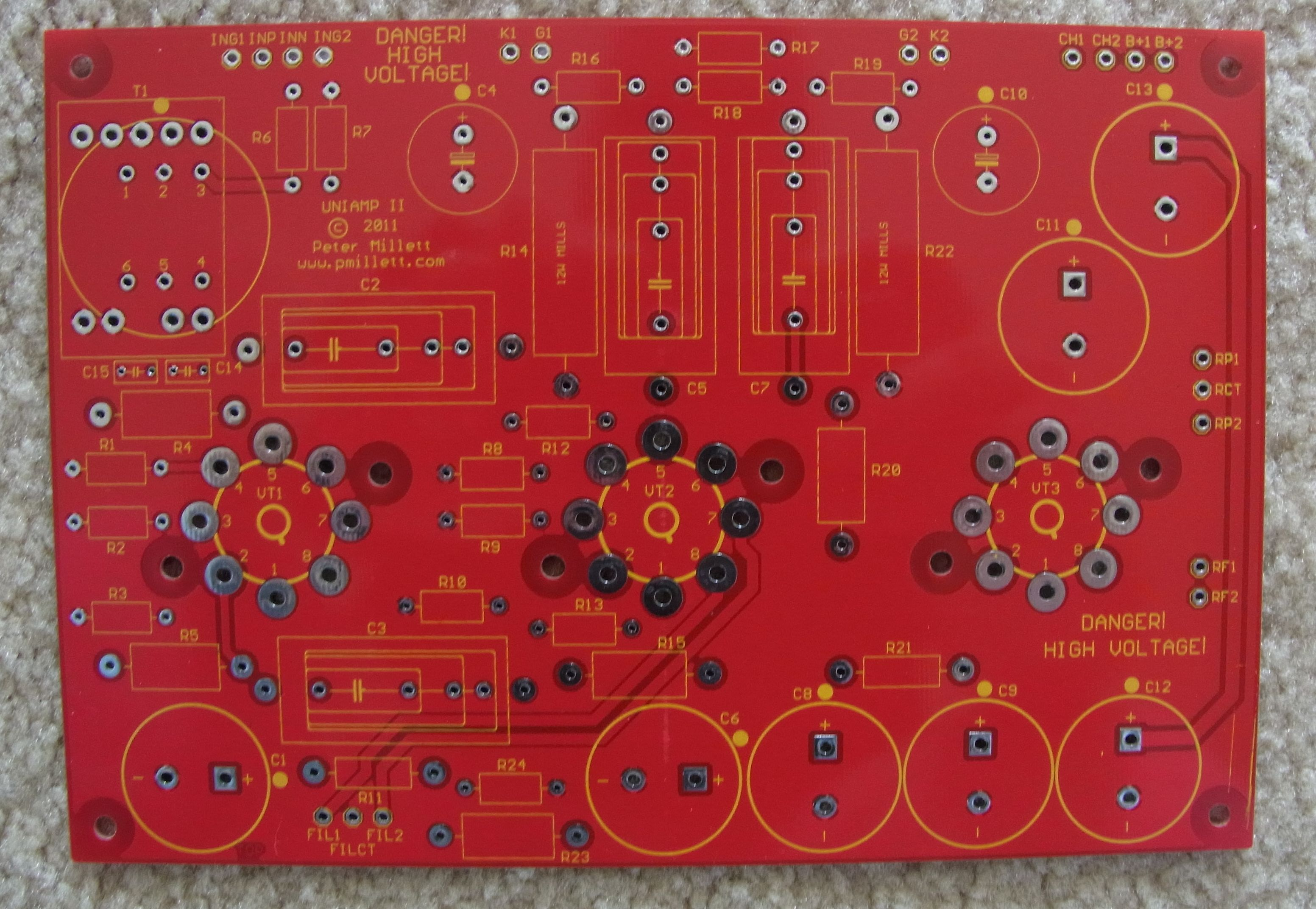 Uniampii Pcb Big on Push Pull Kt88 Tube Amplifier Schematic