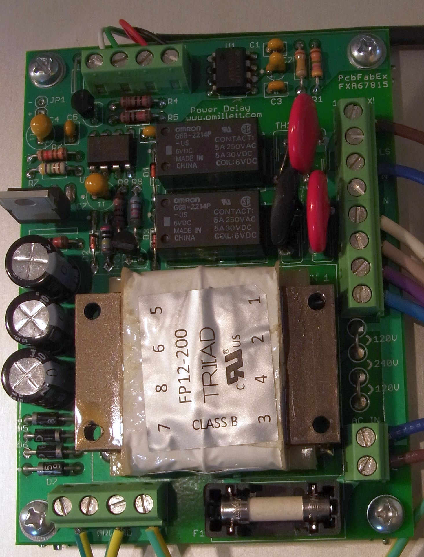 Ac Delay Circuit Relay On