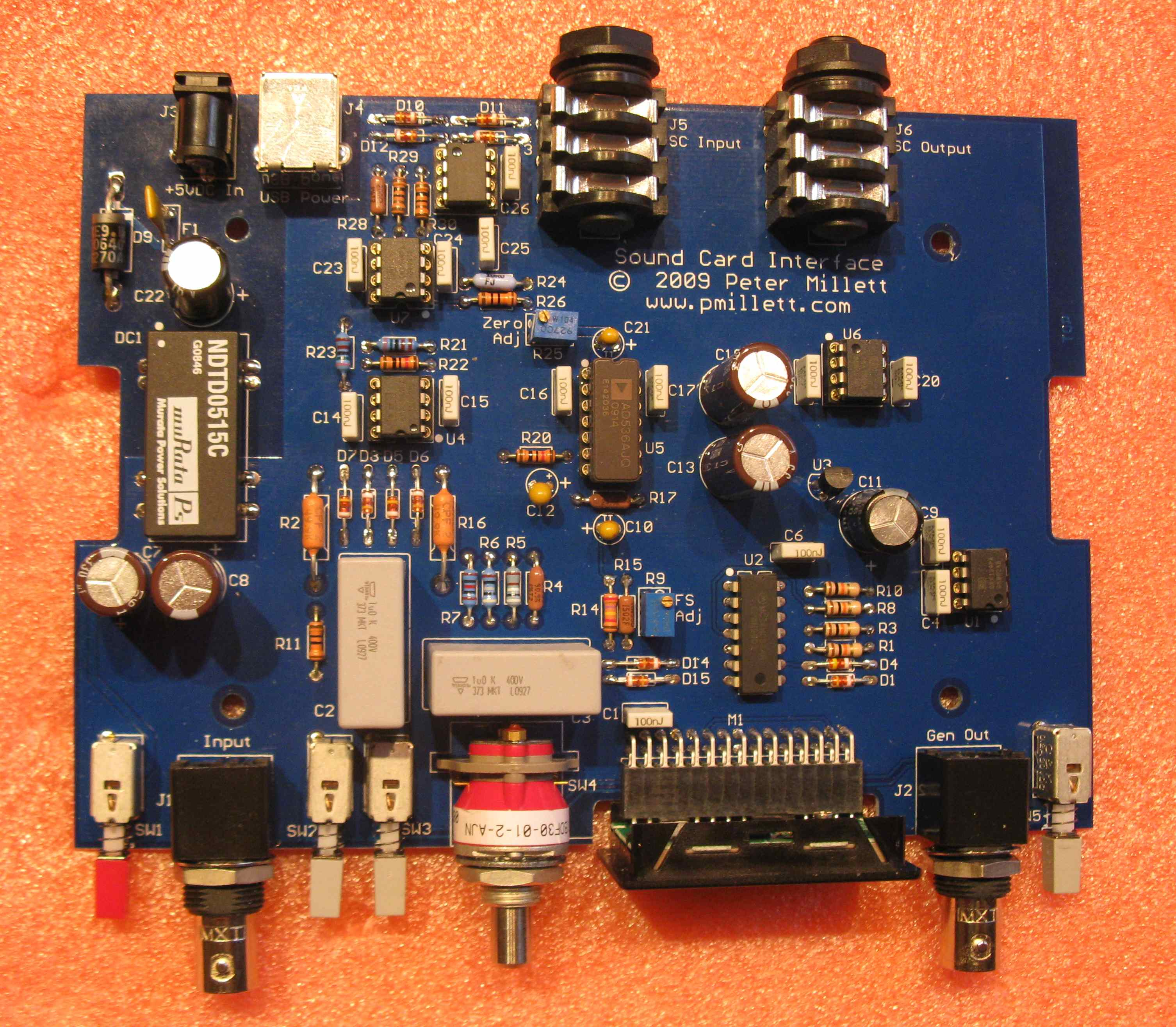 Soundcard Interface Audio Distortion Meter Assembly Is As Simple Stuffing The Parts All Through Hole No Smt I Used Sockets For Ics Though You Really Dont Need To