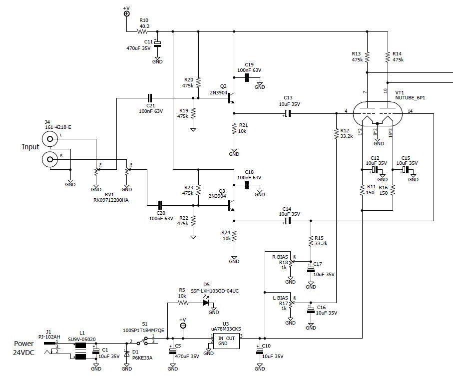 nuhybrid headphone amp rh pmillett com Ampex Stereo Amplifier Schematic Stereo Amplifier Schematic C 368