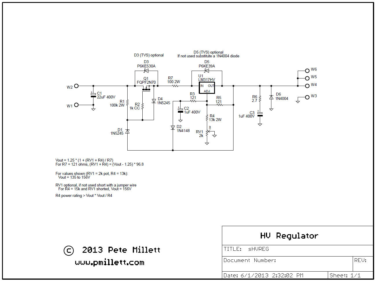 High Voltage Regulator : High voltage regulator
