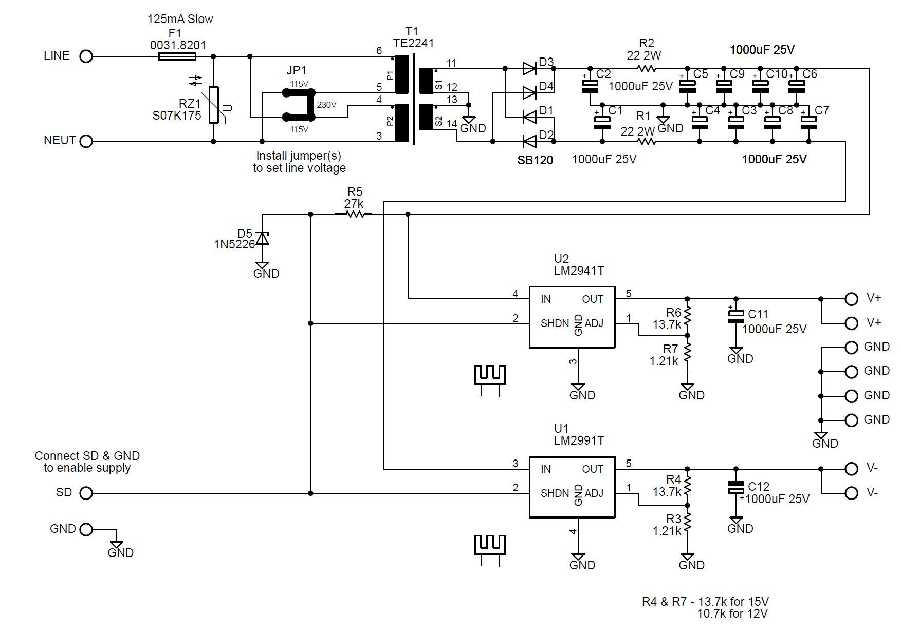 Lr Phono Preamp Led Power Supply Schematic Here Is The Download A Pdf