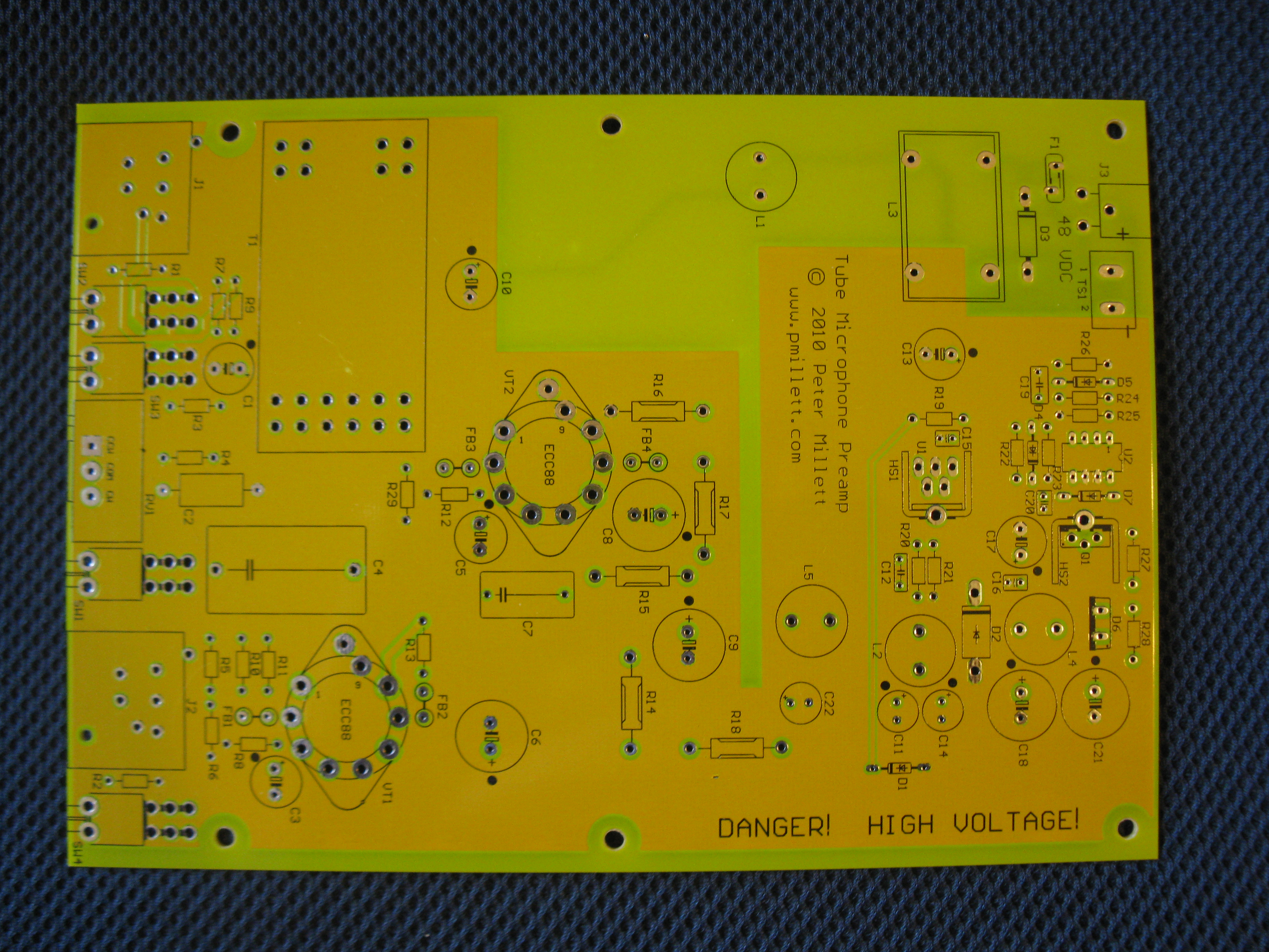 Tube Microphone Preamp Dynamic Mic Preamplifier Circuit Heres What The Pcb Looks Like Click For A Full Size Image
